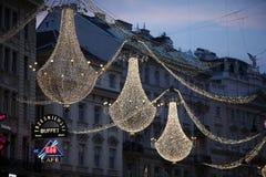 圣诞节装饰维也纳 图库摄影