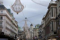 圣诞节装饰维也纳 免版税库存照片
