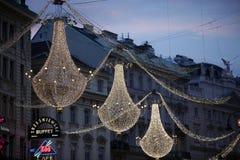 圣诞节装饰维也纳 免版税图库摄影