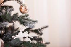 2圣诞节装饰 复制空间权利 免版税库存图片