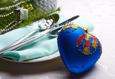 圣诞节装饰以心脏的形式 库存图片