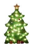圣诞节装饰-结构树 免版税库存图片