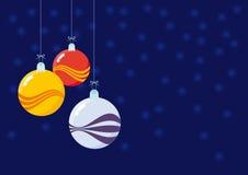 圣诞节装饰-美丽的玻璃球 库存图片