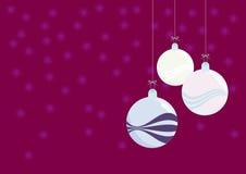 圣诞节装饰-美丽的玻璃球 库存照片