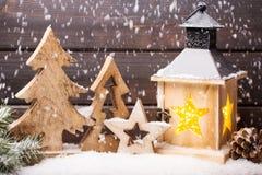 圣诞节装饰und灯笼 标志xmas 库存照片