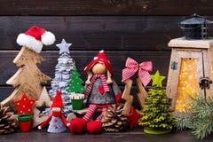 圣诞节装饰und灯笼 标志xmas 库存图片