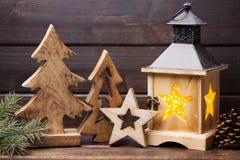圣诞节装饰und灯笼 标志xmas 免版税图库摄影