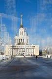 圣诞节装饰VDNKH中央胡同,莫斯科,俄罗斯 库存照片
