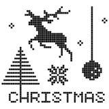 圣诞节要素 皇族释放例证