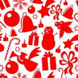 圣诞节要素patern无缝 库存例证