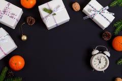 圣诞节视图的准备从上面 免版税库存图片