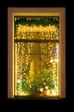 圣诞节视窗 免版税库存照片