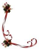 圣诞节角落设计丝带 免版税库存图片