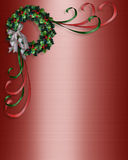 圣诞节角落设计花圈 免版税库存图片