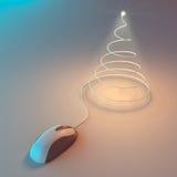 圣诞节计算机结构树 免版税库存照片