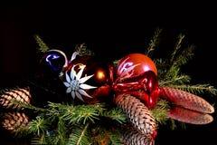 圣诞节许多玩具 图库摄影