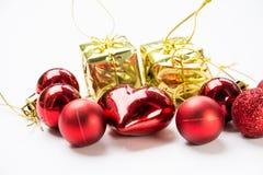 圣诞节设备为庆祝背景 免版税库存照片