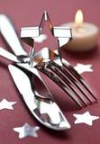 圣诞节设置表 免版税图库摄影
