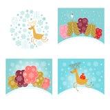 圣诞节设计元素和新年问候 库存照片