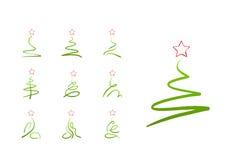 圣诞节设计元素集结构树 免版税库存图片