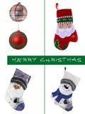 圣诞节设计元素集 球和袜子 免版税库存图片