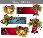 圣诞节设计元素集 免版税库存照片