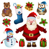 圣诞节设计元素集 免版税图库摄影