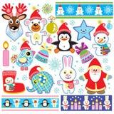 圣诞节设计元素集 库存图片