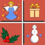 圣诞节设计元素集 免版税库存图片