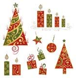 圣诞节设计元素 库存图片