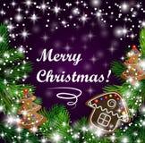 圣诞节设计用姜饼曲奇饼 库存图片