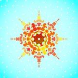 圣诞节设计的传染媒介雪花 图库摄影