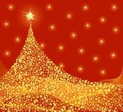 圣诞节设计金黄结构树 向量例证