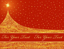 圣诞节设计金黄结构树 库存图片