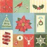 圣诞节设计集合 图库摄影