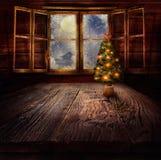 圣诞节设计-圣诞树 免版税图库摄影