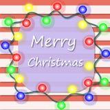 圣诞节诗歌选明信片 库存照片
