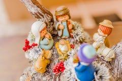圣诞节诞生场面的生动的颜色 库存图片