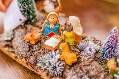 圣诞节诞生场面的生动的颜色 免版税库存图片