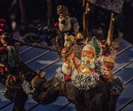 圣诞节诞生场面的生动的颜色 图库摄影