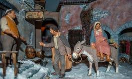 圣诞节诞生场面 免版税库存照片