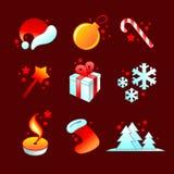 圣诞节详细图标 库存例证