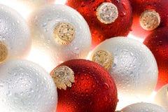 圣诞节详细资料丢弃装饰品水 免版税库存图片
