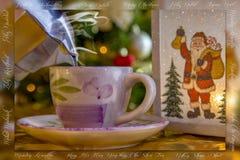 圣诞节语言快活的许多 免版税库存照片