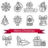 圣诞节象有白色背景 向量例证