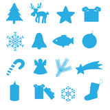 圣诞节象汇集eps10 免版税库存图片