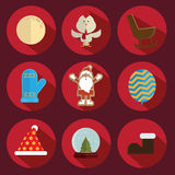 圣诞节象红色 免版税图库摄影
