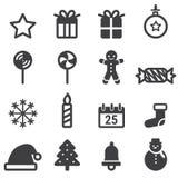 圣诞节象,传染媒介illustion平的设计样式 皇族释放例证