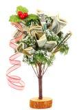 圣诞节货币结构树 免版税库存图片