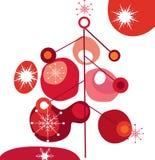 圣诞节质朴的结构树 库存例证